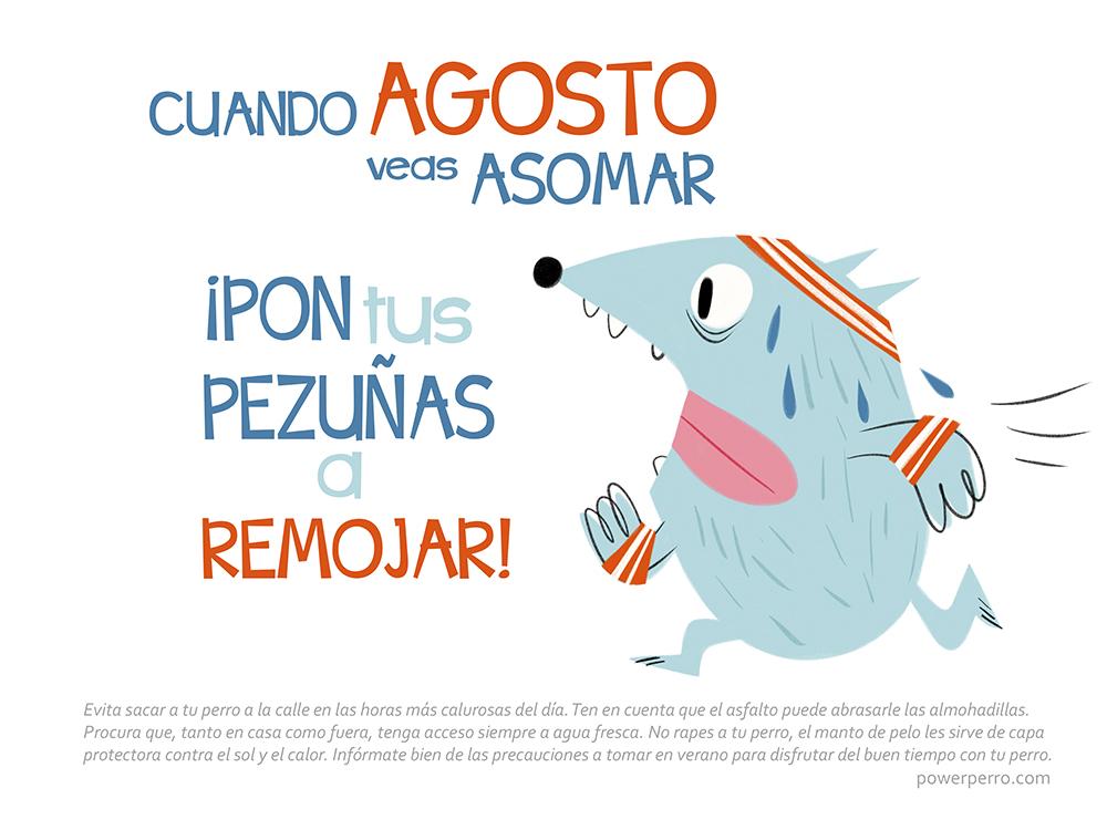 mes de agosto del calendario power perro