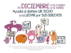 mes de diciembre de calendario power perro
