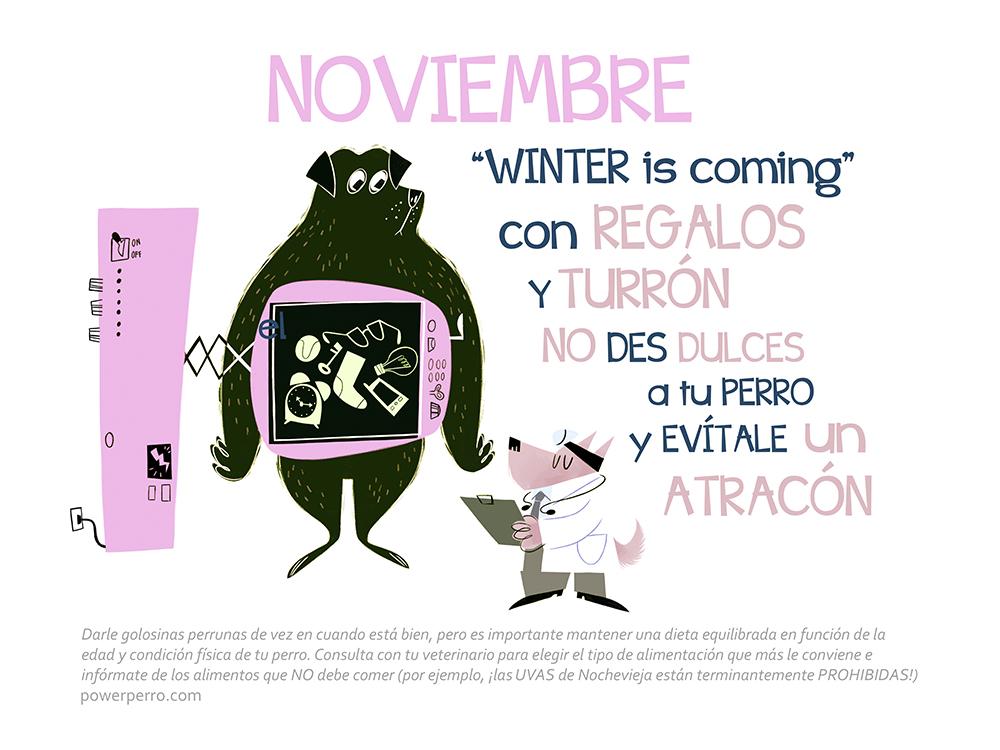 mes de noviembre del calendario power perro